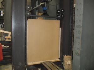 Figure 4: Test Setup 1 – Panel as Mounted