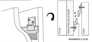Figure 1 - Monarch Z Clip Cut Through Drawing