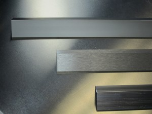 Alternative view of Anodized Finish vs. a Brushed Finish vs. a Mill Finish