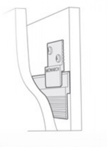 This drawing provides a view through the wall of a Monarch Z Clip engaged with a continuous length.