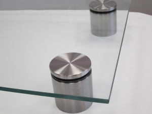 Stainless Glass Spacers - Brushed Finish