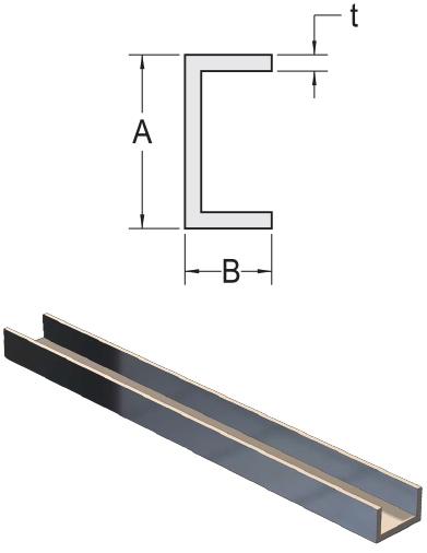 Monarch Metal Architectural Metal - Aluminum Sharp Corner(C Channel/U Channel)