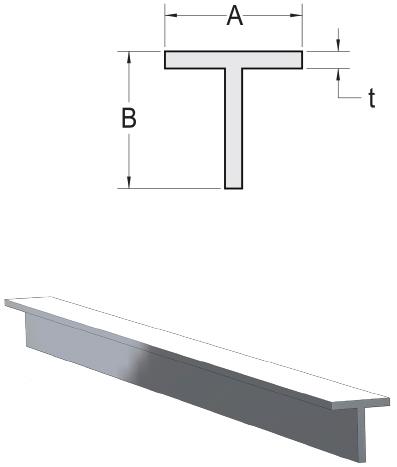Monarch Metal Architectural Metal - Sharp Corner Aluminum T Bar