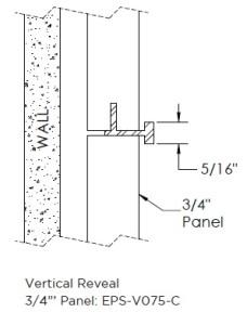 Monarch Metal Wall Panel System - EPS-V075-C