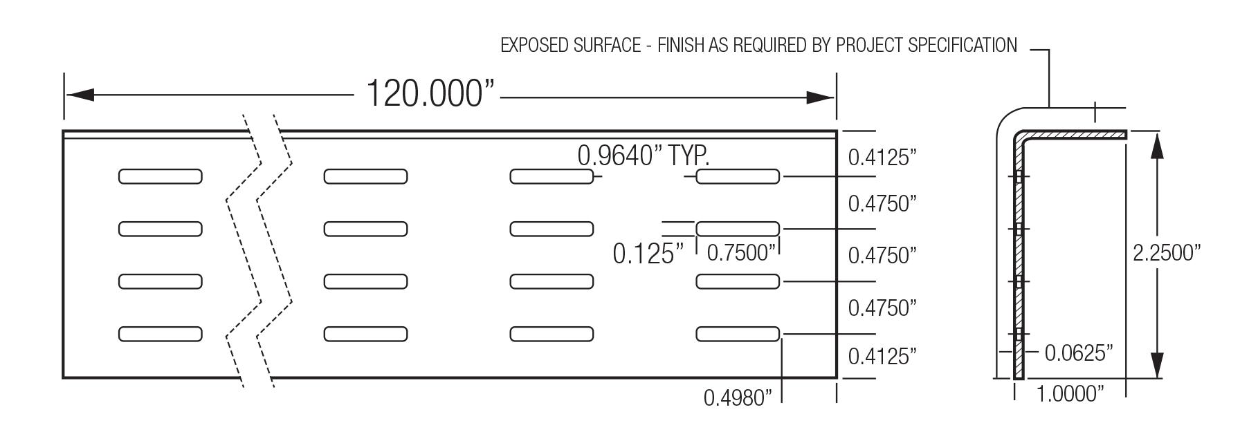 "Monarch Metal Cladding & Rain Screen System - 210-001 2.25"" Vent Screen"