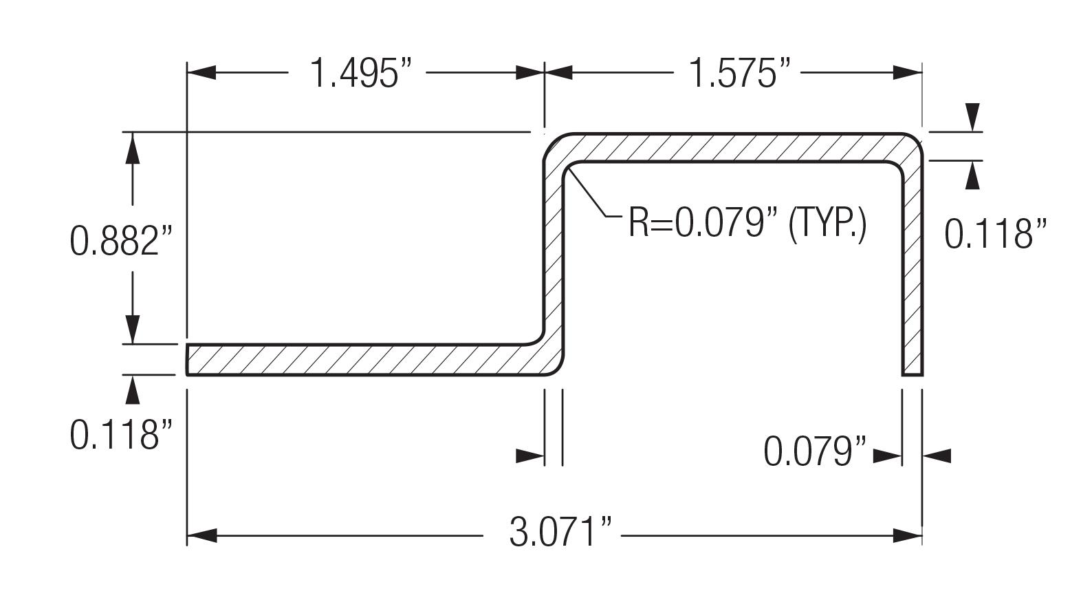Monarch Metal Cladding & Rain Screen System - FMAX-J-144-BK