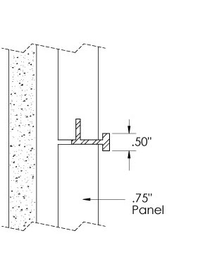Monarch Metal Wall Panel System - 3/4″ Panel: EPS-V075-C50