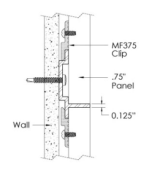 Monarch Metal Wall Panel System - EPS-H075-L