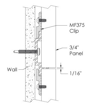 Monarch Metal Wall Panel System - EPS-H075-R or EPS-H039-R