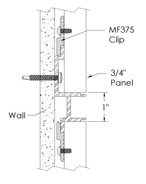 Monarch Metal Wall Panel System - EPS-H075-WC or EPS-H039-WC