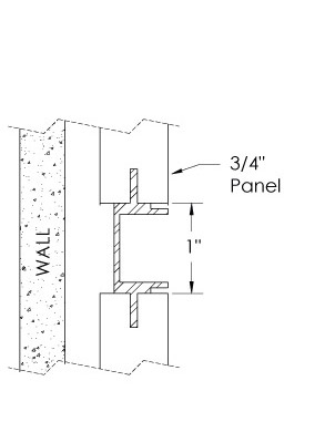 Monarch Metal Wall Panel System - EPS-V075-WC or EPS-V039-WC