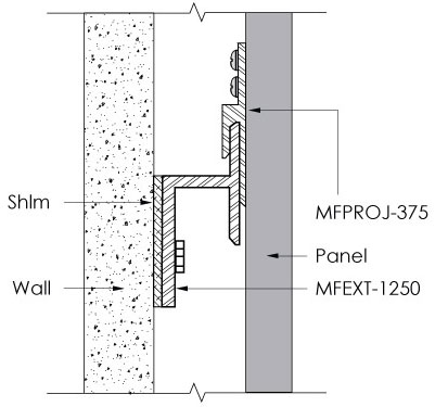 Monarch Metal Z Clip MFEXT-1250
