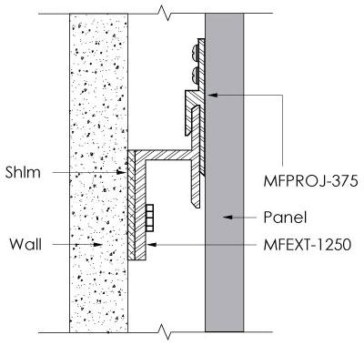Monarch Metal Z Clip MFPROJ-375