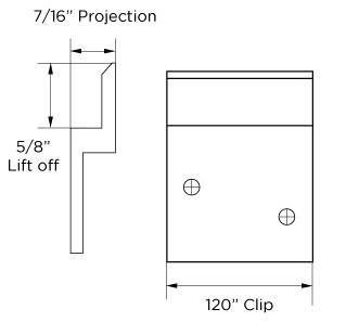 Monarch Metal Z Clip MFPROJ-438