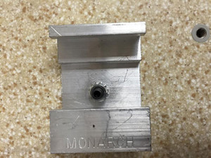 Z clip mounted using hex nut and short threaded rod.